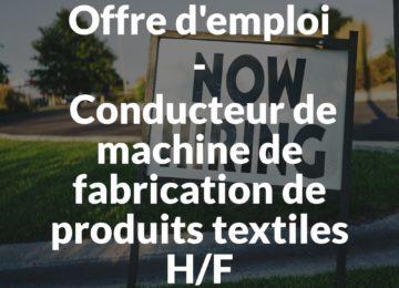 Conducteur de machine de fabrication de produits textiles HF