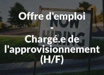 Offre d'emploi - Chargé-e de l'approvisionnement