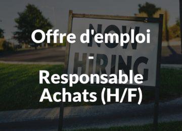 Offre d'emploi - Responsable Achats