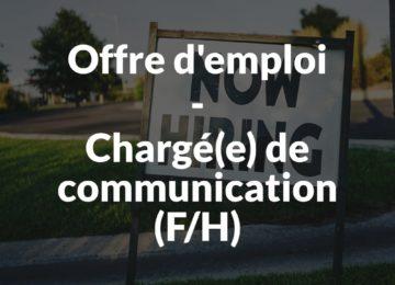 Offre d'emploi-chargé-e de communication